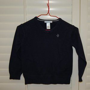 Janie and Jack Navy V Neck Pullover Sweater